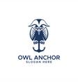 owl anchor logo vector image vector image