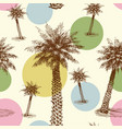 palm trees or coconut tree seamless pattern vector image
