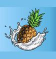 pineapple milk color vector image