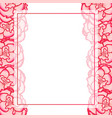 pink begonia flower picotee first love banner vector image vector image