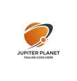 planet jupiter design concept template vector image
