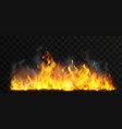 raging fire realistic vector image vector image