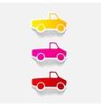 realistic design element car pickup vector image vector image