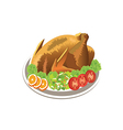 Roast chicken vector image