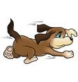 running dog vector image vector image