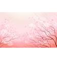 Sakura branch spring floral background vector image vector image