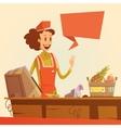 Saleswoman Retro vector image vector image