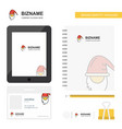 santa clause business logo tab app diary pvc vector image vector image