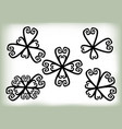 set of floral elements on a white background vector image