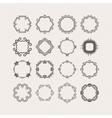 Set of ornate mandala borders and frames vector image vector image