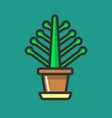simple potted flower vector image vector image