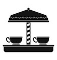 tea cup carousel icon simple style vector image