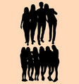 teenagers people silhouette style vector image vector image
