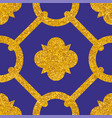 tile decorative floor gold and dark blue tiles vector image