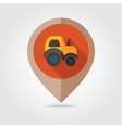 Tractor flat mapping pin icon vector image vector image