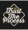 trust process typography vector image