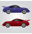 two sport cars eps10 vector image vector image