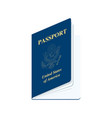 united states america passport realistic vector image