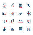 university icon set vector image vector image