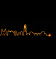 utrecht light streak skyline vector image vector image