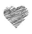 Valentine Day Hand Drawn Heart vector image