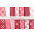 valentines day patterns vector image