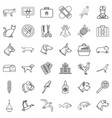 vet icons set outline style vector image vector image