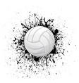 volleyball white grunge symbol vector image