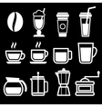 White Coffee Drinks Icons vector image vector image