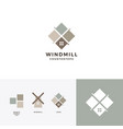 windmill tile granite and marble countertop logo vector image vector image