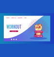 workout and be stronger vector image vector image