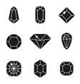 jewels or precious diamonds gem set vector image