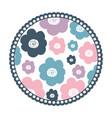 white background with colorful round frame with vector image