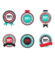 100 Satisfaction Quality Label Set in Flat vector image vector image
