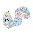 a cartoon squirrel vector image