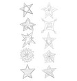 a set of star icons image for printgraphic design vector image