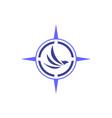 abstract eagle compass logo icon