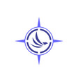 abstract eagle compass logo icon vector image vector image