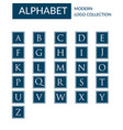 alphabet logo template collection vector image vector image