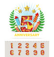 anniversary celebration invitation greeting card vector image vector image