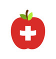 apple switzerland flag swiss national fruit vector image vector image