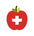 apple switzerland flag swiss national fruit vector image vector image