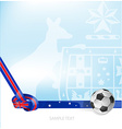 australian background soccer ball vector image