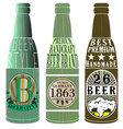 beer bottle graphic design vector image