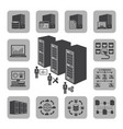 big data icons set system infrastructure vector image