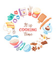 cartoon baking banner vector image