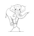 cartoon of man or businessman carrying elephant vector image vector image
