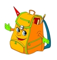 Cartoon school satchel vector image vector image