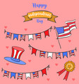 celebration card for inependence day vector image vector image