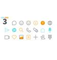 chat ui pixel perfect well-crafted thin vector image vector image